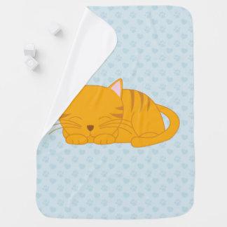 Couvertures Pour Bébé Chat tigré orange de sommeil