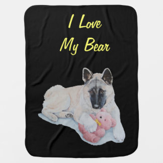 Couvertures Pour Bébé Chien mignon d'original d'ours de nounours de rose