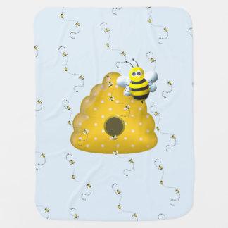 Couvertures Pour Bébé Cool d'abeille avec la ruche d'abeille