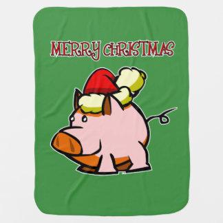 Couvertures Pour Bébé Couverture de porc de Joyeux Noël
