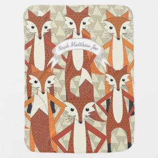 Couvertures Pour Bébé Couverture personnalisée de bébé de hippie de Fox