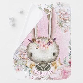 Couvertures Pour Bébé Couverture personnalisée de bébé de lapin