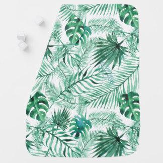 Couvertures Pour Bébé Couverture tropicale de bébé de motif de feuille