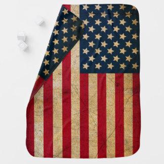 Couvertures Pour Bébé Couverture vintage de bébé de drapeau américain