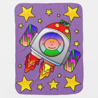 Couvertures Pour Bébé Décollage de métier de l'espace