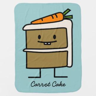 Couvertures Pour Bébé Dents de lapin de tranche de gâteau à la carotte