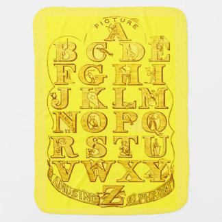 Couvertures Pour Bébé Diagramme jaune ensoleillé d'alphabet de