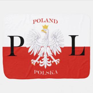 Couvertures Pour Bébé Drapeau PL de la Pologne Polska