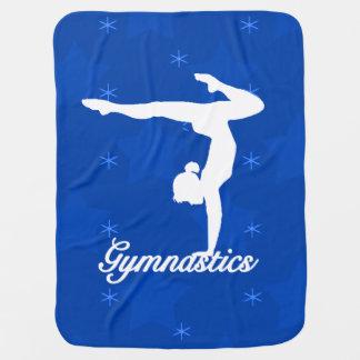Couvertures Pour Bébé Étoiles bleues de fille de gymnastique
