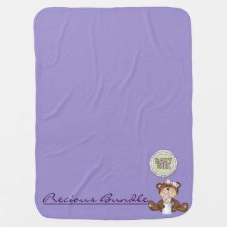 Couvertures Pour Bébé Fille précieuse de lilas d'ours de nounours de