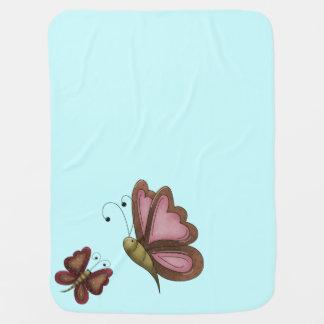 Couvertures Pour Bébé Garçons bleus de papillon de pays