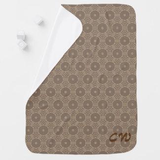 Couvertures Pour Bébé Initiales de motif de hexogon de Brown