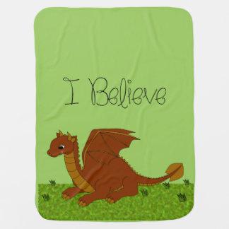 Couvertures Pour Bébé Je crois que - dragon - changez la couleur
