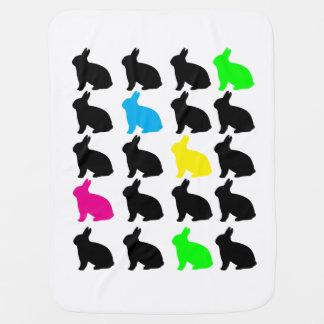 Couvertures Pour Bébé Lapins colorés (à simple face)