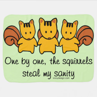 Couvertures Pour Bébé Les écureuils volent ma santé d'esprit
