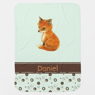 Couvertures Pour Bébé Les points de Fox de bébé ont personnalisé la