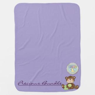 Couvertures Pour Bébé Lilas précieux d'ours de nounours de paquet