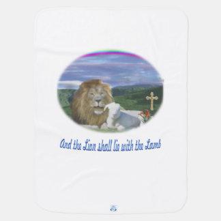 Couvertures Pour Bébé Lion et les cadeaux de chrétien d'agneau