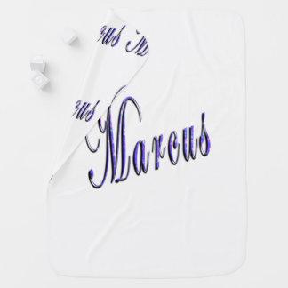 Couvertures Pour Bébé Marcus, nom, logo, confortablement couverture