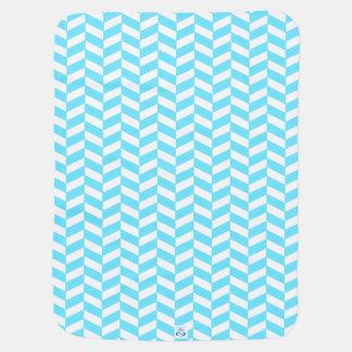 Couvertures Pour Bébé Motif bleu lumineux blanc en arête de poisson de
