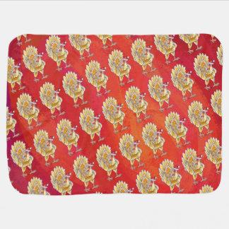 Couvertures Pour Bébé Noël de poulet sur le rouge