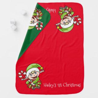 Couvertures Pour Bébé Noël du bébé d'Elf de Noël premier