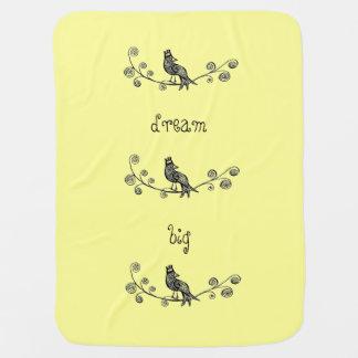 Couvertures Pour Bébé Oiseau et couronne