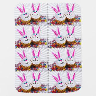 Couvertures Pour Bébé Petits gâteaux de lapin de Pâques d'art de bruit