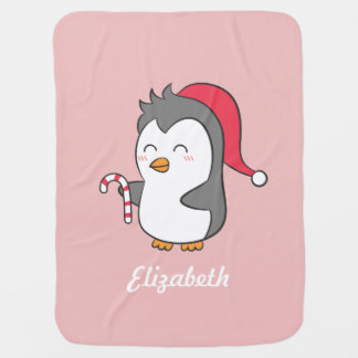 Couvertures Pour Bébé Pingouin mignon avec Noël de bébé de sucre de