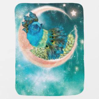 Couvertures Pour Bébé Pois-Chat confortable sur la lune