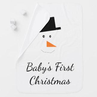 Couvertures Pour Bébé Première coutume de visage de bonhomme de neige de
