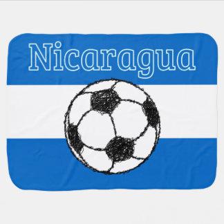 Couvertures Pour Bébé République du football du Nicaragua |
