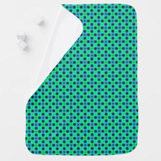 Couvertures Pour Bébé Résumé géométrique bleu pourpre vert