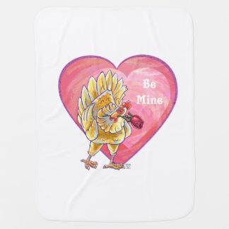 Couvertures Pour Bébé Saint-Valentin de poulet