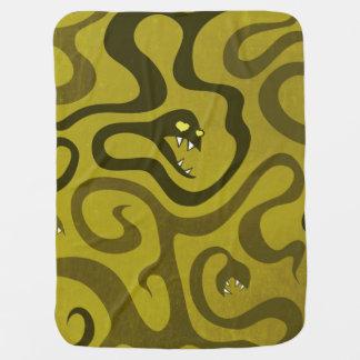 Couvertures Pour Bébé Serpents et tentacules drôles verts dans l'amour