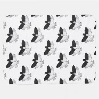 Couvertures Pour Bébé Silhouette Eagle de main