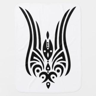 Couvertures Pour Bébé Tatouage tribal NOIR - tulipe + vos idées