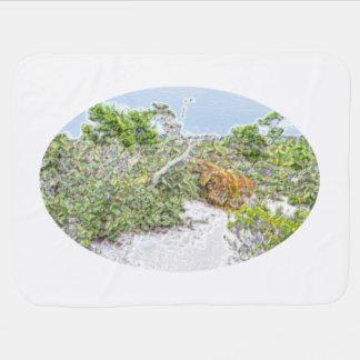 Couvertures Pour Bébé vert abstrait d'étincelle de paysage en Floride