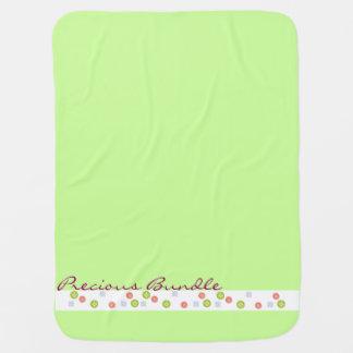 Couvertures Pour Bébé Vert précieux de paquet