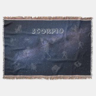 Couvertures Scorpion de signe de zodiaque