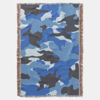 Couvertures tissées militaires bleues fraîches de couverture
