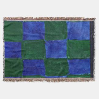 Couvertures Vert couvrant et bleu