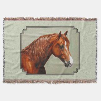 Couvertures Vert sauge de cheval de Morgan de châtaigne