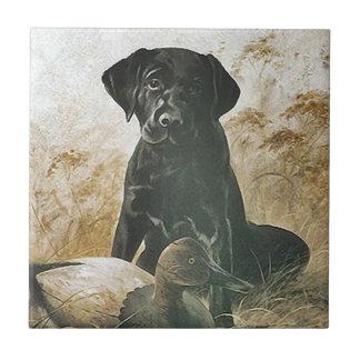 Couvrez de tuiles le leurre vintage de chien petit carreau carré