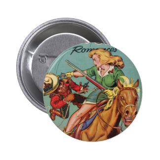 Cow-girl Badge Rond 5 Cm