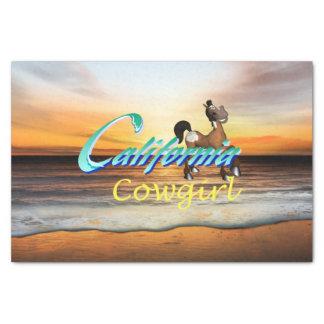 Cow-girl de la Californie de PIÈCE EN T Papier Mousseline
