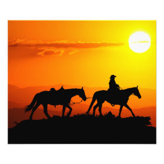 Cowboy-Cowboy-Texas-occidental-pays occidental Impression Photo