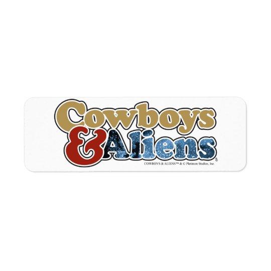 Cowboys et aliens - studios de platine étiquette d'adresse retour