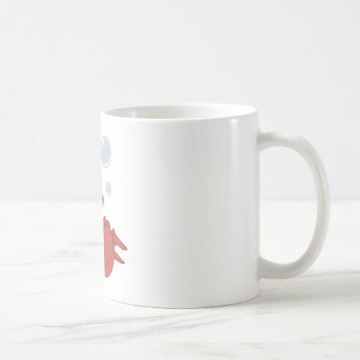 Crabe mignon mug blanc
