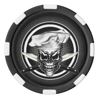 Crâne 1 de chef jetons de poker